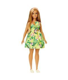 Boneca-Barbie-Fashionista---Loira---Vestido-Amarelo-e-Folhas--Mattel
