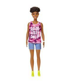 Boneca-Barbie-Fashionista---Morena---Blusa-Rosa-e-Bermuda-Azul---Mattel