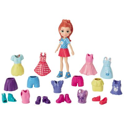 Boneca-Polly-Pocket-Ruiva---Lila-Fashion-Brilho-Perolado---Mattel