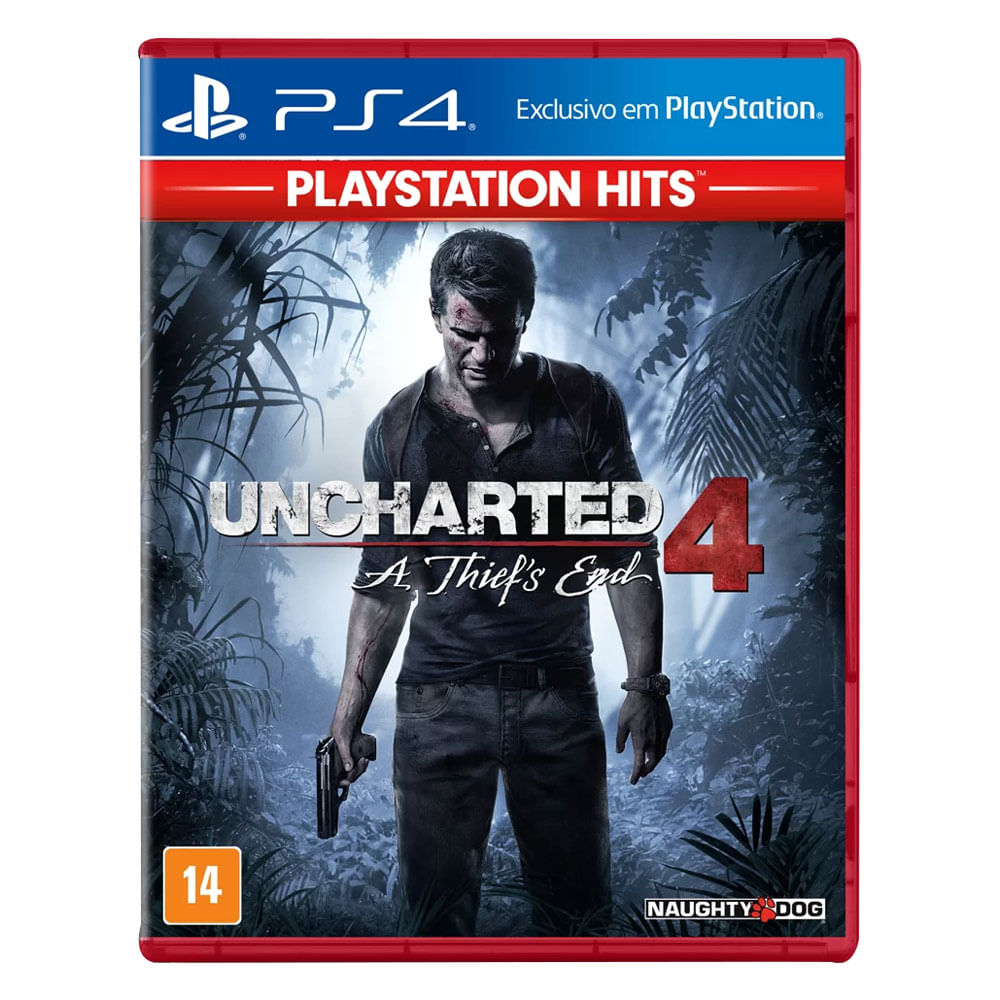 Jogo PS4 - Uncharted 4 - A Thief's End - PlayStation Hits - Sony