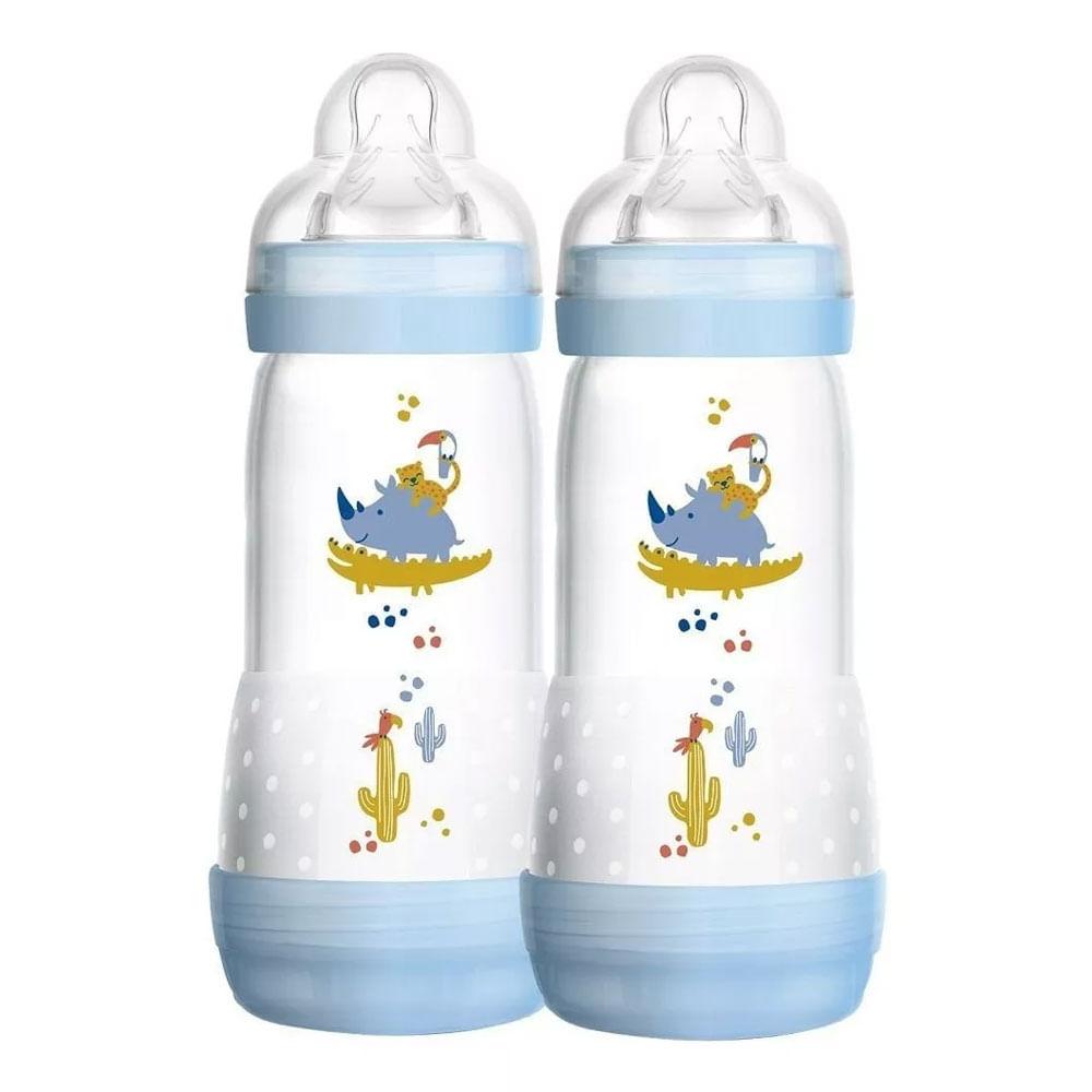 Mamadeira First Bottle Bichos - 320ml - 2 Unidades - Menino - MAM