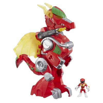 Figura-com-Luzes-e-Sons---39Cm---Power-Rangers---Power-Morph---Red-Ranger-e-Dragon-Thunderzord---Hasbro