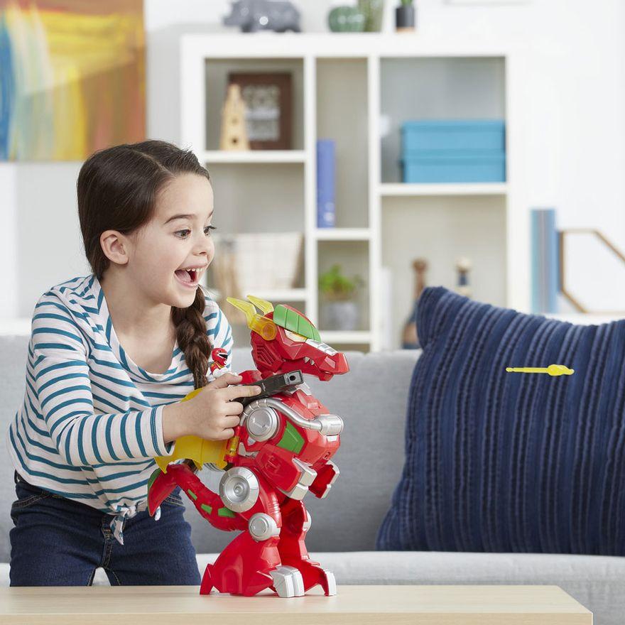 Figura-com-Luzes-e-Sons---39Cm---Power-Rangers---Power-Morph---Red-Ranger-e-Dragon-Thunderzord---Hasbro