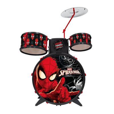 bateria-acustica-infantil-musical-spider-man-marvel-preto-toyng-30491_Frente