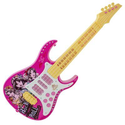Guitarra-com-Luz---Princesas-Disney---Amarelo-e-Rosa---Toyng