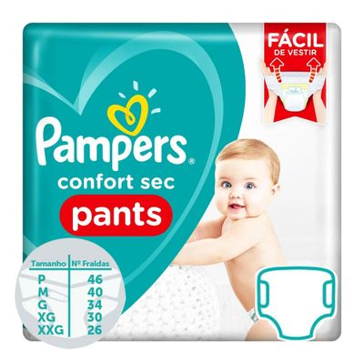Fraldas Descartaveis Confort Sec Pants Pampers M