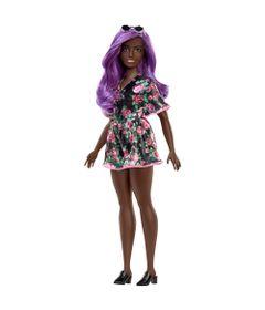 boneca-barbie-fashionista-negra-vestido-preto-com-flor-mattel-FBR37_Frente