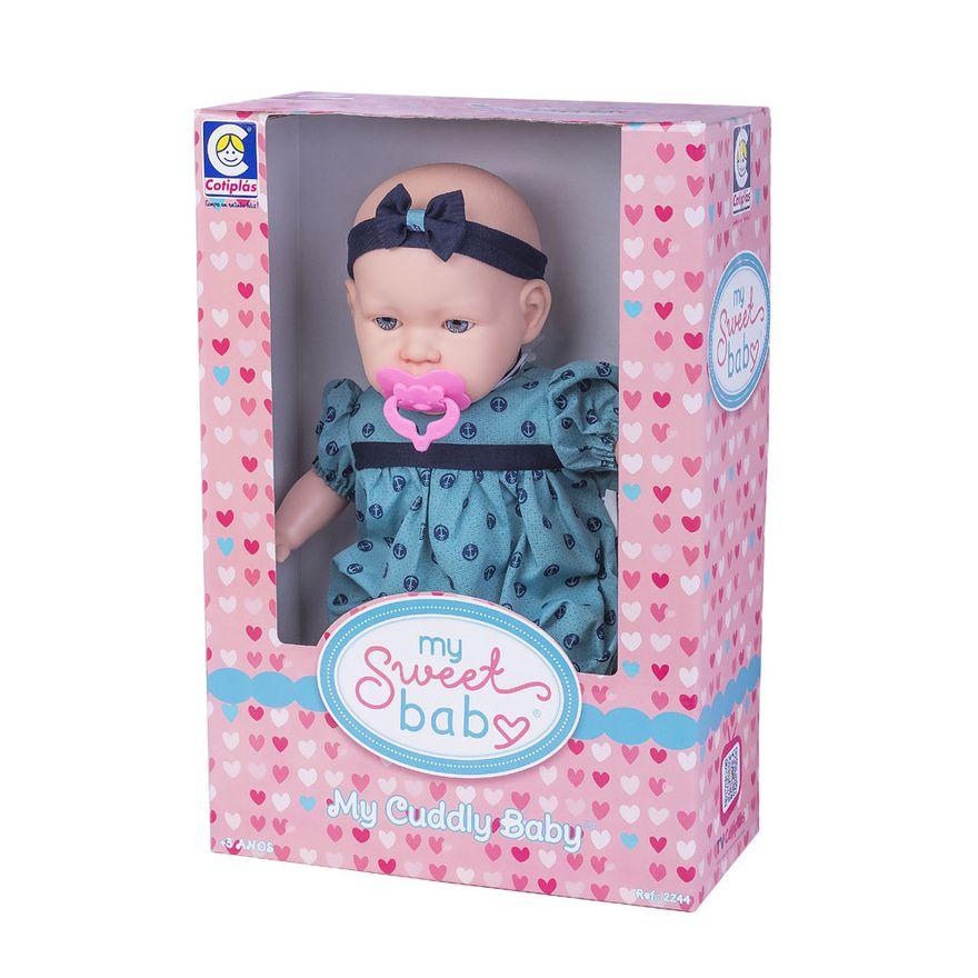 boneca-44cm-my-sweet-baby-vestido-verde-com-ancora-2244_Frente