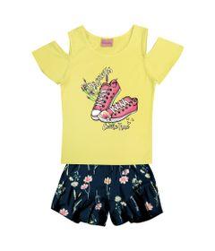 Conjunto-Infantil---Camisa-Manga-Curta-Dreams-e-Bermuda---Algodao-e-Elastano---Amarelo---Duduka---4