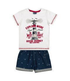 Conjunto-Infantil---Camisa-Manga-Curta-Farol-e-Bermuda---Algodao-e-Elastano---Branco---Duduka---M