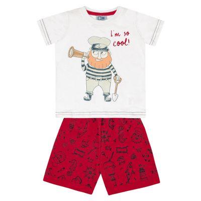 Conjunto-Infantil---Camisa-Manga-Curta-Pirata-e-Bermuda---100--Algodao---Branco---Duduka---P
