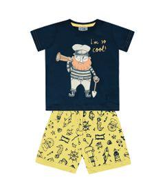 Conjunto-Infantil---Camisa-Manga-Curta-Pirata-e-Bermuda---100--Algodao---Marinho---Duduka---1