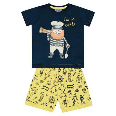 Conjunto-Infantil---Camisa-Manga-Curta-Pirata-e-Bermuda---100--Algodao---Marinho---Duduka---P
