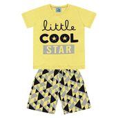 Conjunto-Infantil---Camisa-Manga-Curta-Stars-e-Bermuda---Algodao-e-Poliester---Amarelo---Duduka---1