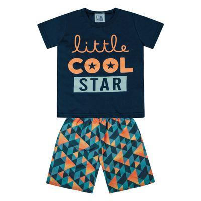 Conjunto-Infantil---Camisa-Manga-Curta-Stars-e-Bermuda---Algodao-e-Poliester---Marinho---Duduka---1
