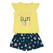 Conjunto-Infantil---Camisa-Manga-Curta-Sunshine-e-Bermuda---100--Algodao---Amarelo---Duduka---1