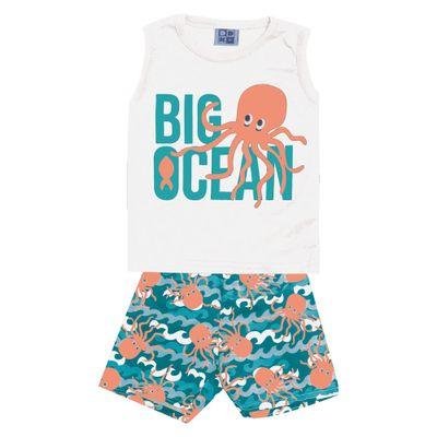 Conjunto-Infantil---Camiseta-Regata-Big-Ocean-e-Bermuda---Algodao-e-Poliester---Branco---Duduka---P