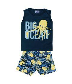 Conjunto-Infantil---Camiseta-Regata-Big-Ocean-e-Bermuda---Algodao-e-Poliester---Marinho---Duduka---M