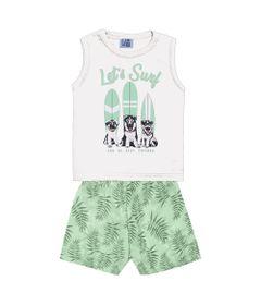 Conjunto-Infantil---Camiseta-Regata-Dog-Surf-e-Bermuda---Algodao-e-Poliester---Off-White---Duduka---P