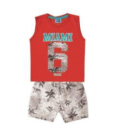 Conjunto-Infantil---Camiseta-Regata-Miami-e-Bermuda---100--Algodao---Laranja---Duduka---1