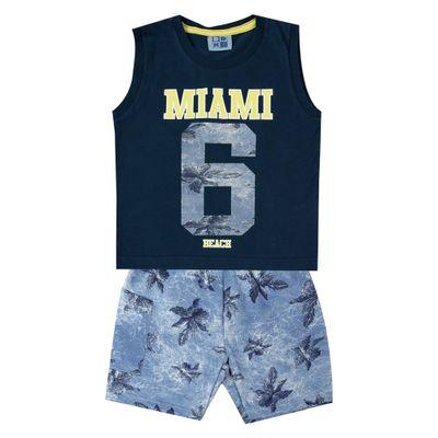 Conjunto-Infantil---Camiseta-Regata-Miami-e-Bermuda---100--Algodao---Marinho---Duduka---1