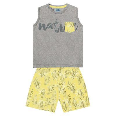 Conjunto-Infantil---Camiseta-Regata-Natureza-e-Bermuda---Algodao-e-Poliester---Mescla---Duduka---1