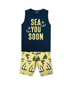 Conjunto-Infantil---Camiseta-Regata-Sea-e-Bermuda---Algodao-e-Poliester---Marinho---Duduka---4
