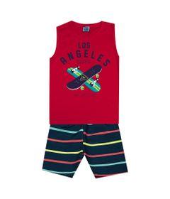 Conjunto-Infantil---Camiseta-Regata-Skate-e-Bermuda---Algodao-e-Poliester---Vermelho---Duduka---4