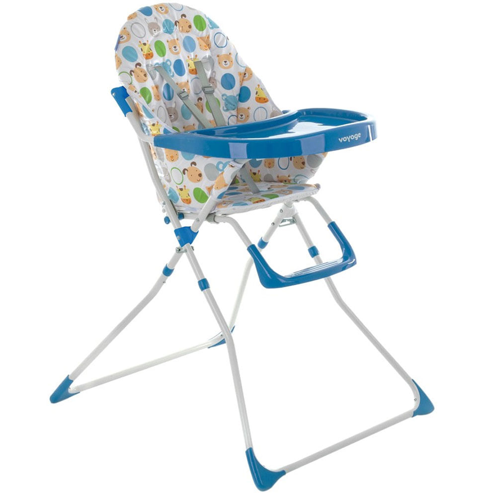 Cadeira de Alimentação - Petisco - Azul Bichos - Voyage