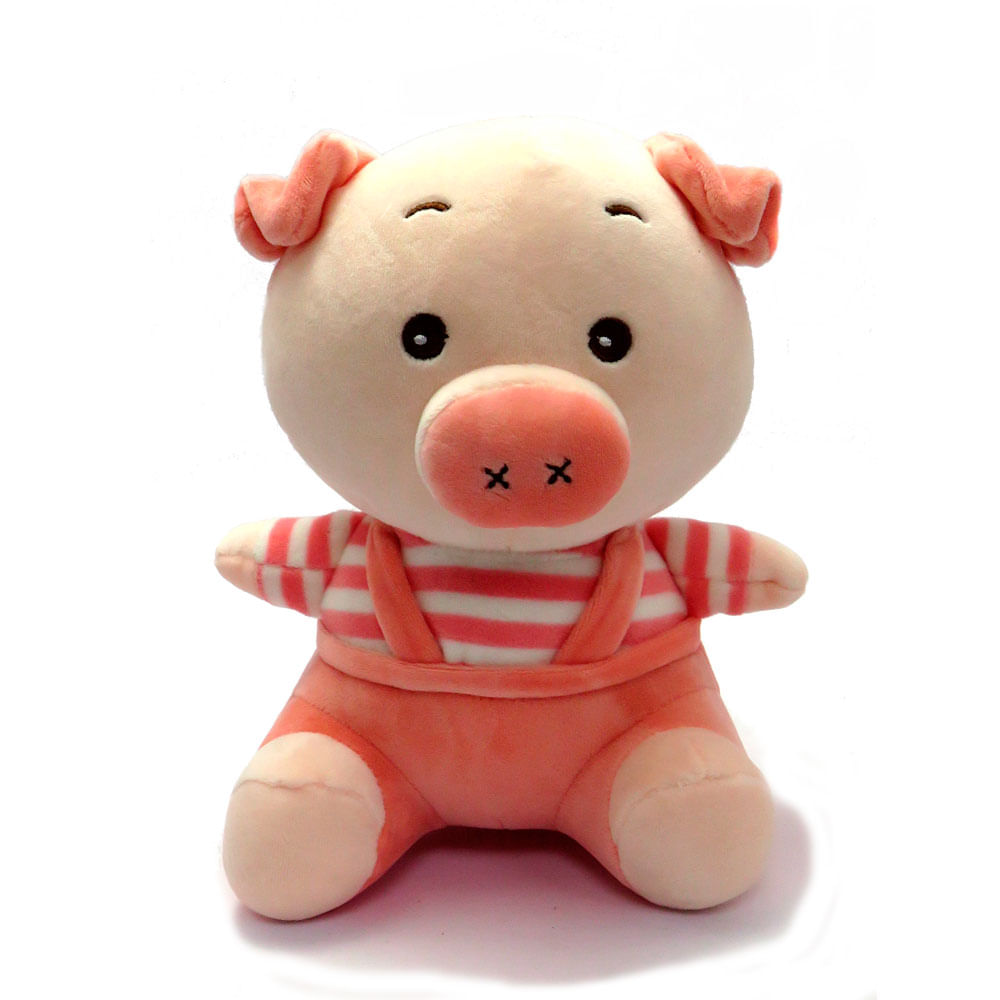 Pelúcia 20 Cm - Porquinho Rosa - Love