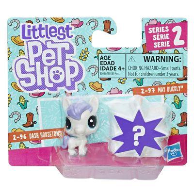 Mini-Figura---Littlest-Pet-Shop---Serie-2---Dash-Horseton-e-May-Duckly---Hasbro