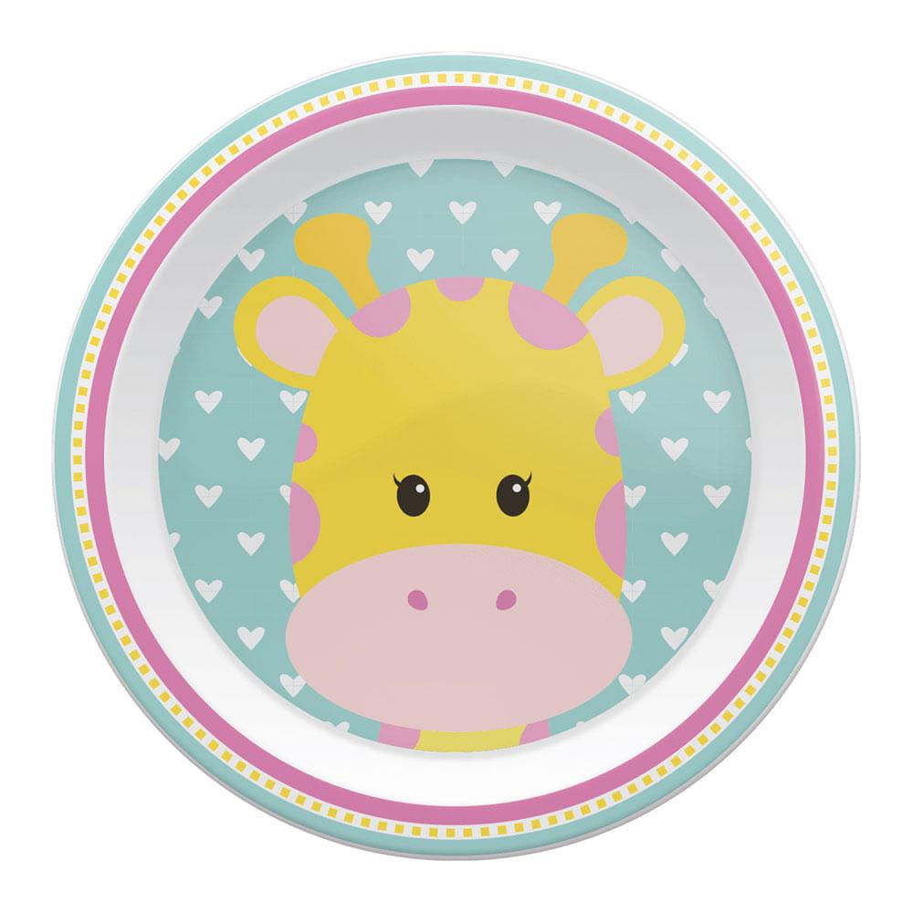 Pratinho Raso - Animal Fun - Girafa - Buba