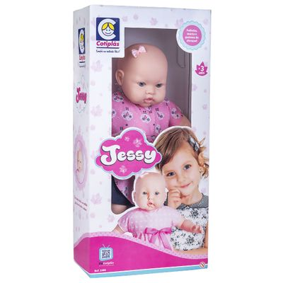 Boneca-Bebe---62Cm---Jessy---Vestido-Rosa---Cotiplas_Frente