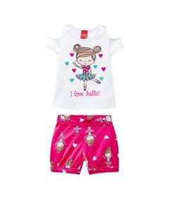 Conjunto-Infantil---Blusa-e-Short---Meia-Malha---Bailarina---Branco---Kyly---1