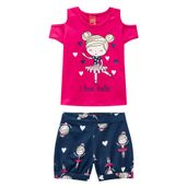 Conjunto-Infantil---Blusa-e-Short---Meia-Malha---Bailarina---Rosa---Kyly---1