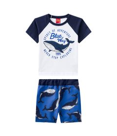 Conjunto-Infantil---Camiseta-e-Bermuda---100--Algodao---Baleia---Branco---Kyly---1