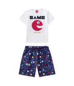Conjunto-Infantil---Camiseta-e-Bermuda---100--Algodao---Game---Branco---Kyly---1