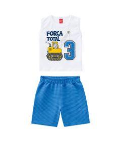 Conjunto-Infantil---Camiseta-e-Bermuda---100--Algodao---Guindaste---Branco---Kyly---2