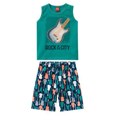 Conjunto-Infantil---Regata-e-Bermuda---100--Algodao---Guitarra---Verde---Kyly---1