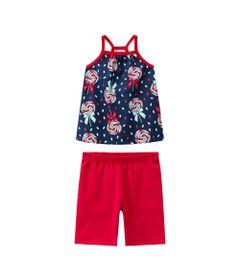 Conjunto-Infantil---Regata-e-Short---100--Algodao---Pirulito---Azul-Marinho---Kyly---1