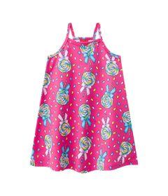 Vestido-Infantil---100--Algodao---Pirulito---Rosa-Choque---Kyly---1