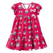 Vestido-Infantil---Algodao-e-Poliester---Lacos-E-Cupcake---Rosa---Kyly---1