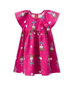 Vestido-Infantil---Meia-Malha---Bailarina---Rosa-Choque---Kyly---2