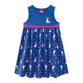 Vestido-Infantil---Meia-Malha---Cachorrinho---Azul---Kyly---1