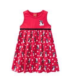 Vestido-Infantil---Meia-Malha---Cachorrinho---Vermelho---Kyly---1