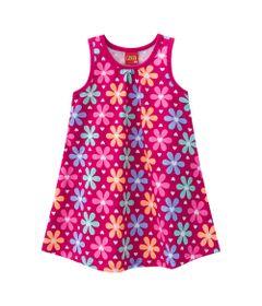 Vestido-Infantil---Meia-Malha---Flores---Magenta---Kyly---1