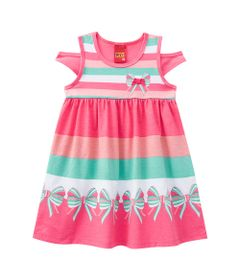 Vestido-Infantil---Meia-Malha---Listras-Com-Laco---Rosa---Kyly---1