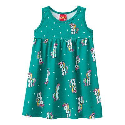 Vestido-Infantil---Meia-Malha---Unicornio---Verde---Kyly---2