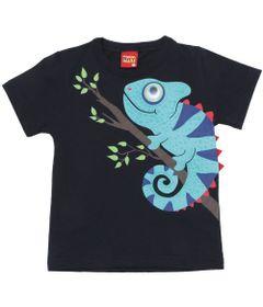 Camiseta-Masculina---Meia-Malha---Camaleao---Azul-Marinho---Kyly---1