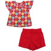 Conjunto-Infantil---Blusa-e-Short---Meia-Malha---Macas---Vermelho---Kyly---1